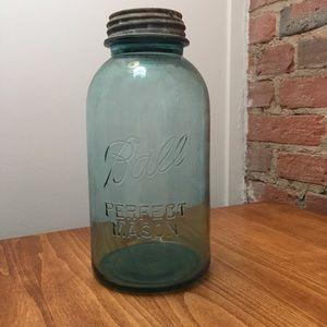 Other - Vintage Ball Perfect Mason Jar Blue Glass zinc lid